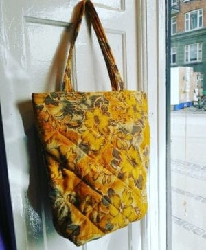 Quilt Tote Bag yellow