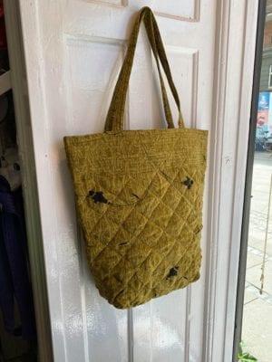 Quilt Tote Bag Olive