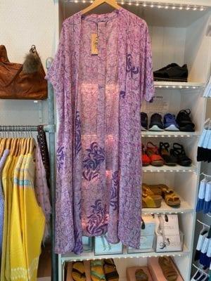 Vintage sarisilk Long Oversize kimono lavenderOnesize