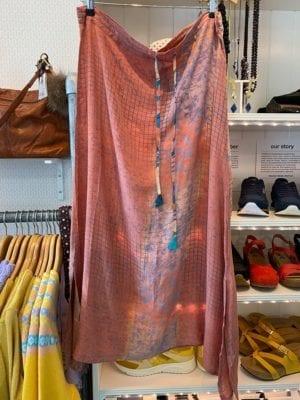 Vintage sarisilk long skirt Koral S/M
