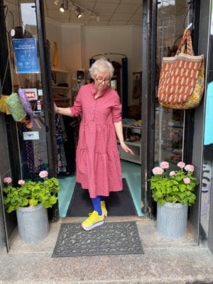 Lipe Dress, pink checks