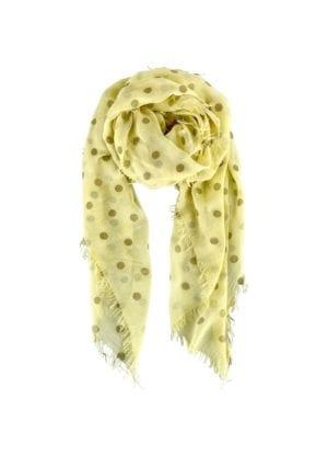 Tørklæde  Faith Gold spot yellow