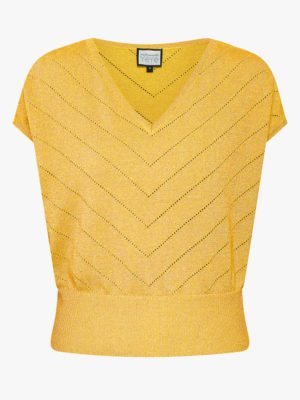 Sunday girl Knit top-yellow