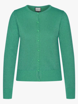 Cardigan-Some Cosiness Green glitter