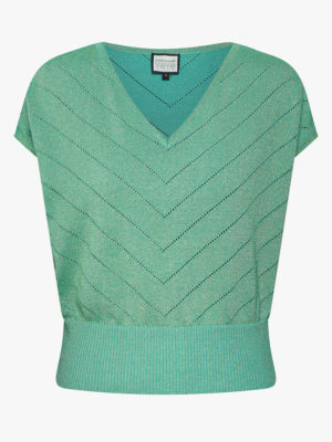 Sunday girl Knit top-green