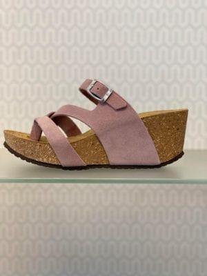 Ella sandal rose suede