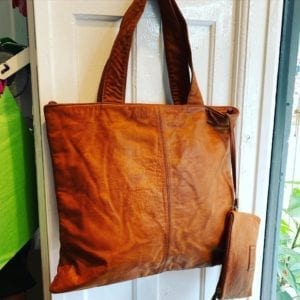 Large shopper/Bag 14268 vintage cognac