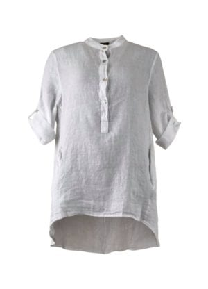TILLY linen shirt white