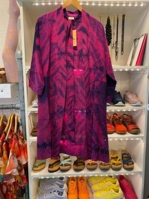 Vintage sarisilk short kimono Purple Dipdye Onesize