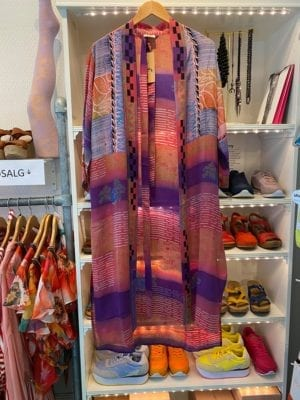 Vintage sarisilk Long kimono Multi purple mix Onesize