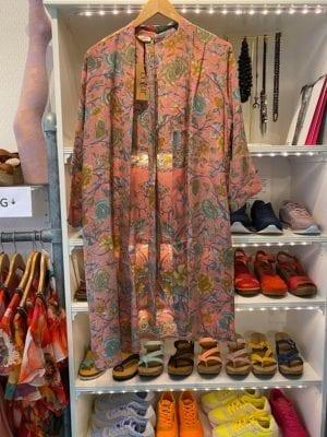 Vintage sarisilk short kimono Pastel roses Onesize