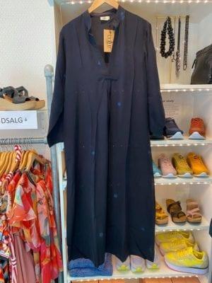 Vintage sarisilk Goa maxidress Amost Black M/L