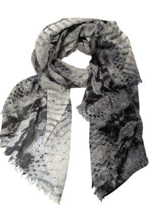 Tørklæde fine wool Reptil Grey