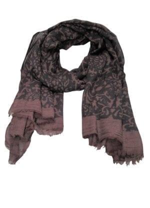 Tørklæde fine wool Rococo Plum