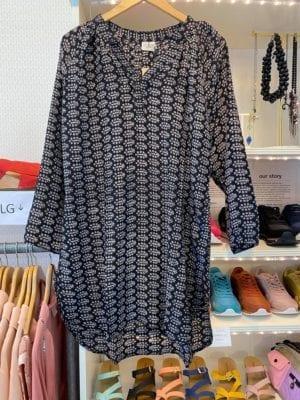 Vintage sarisilk Tunic Black M/L
