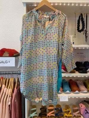Vintage sarisilk Tunic Multi dots M/L