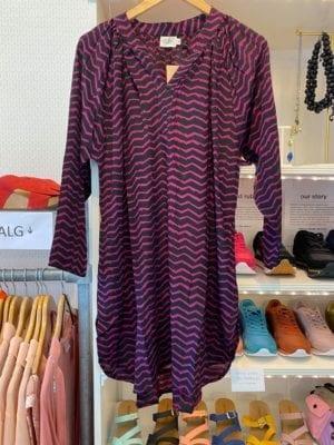 Vintage sarisilk Tunic Black/pink M/L