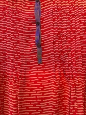 Vintage sarisilk City dress Red M/L