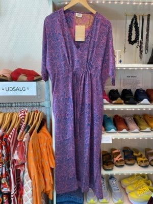 Vintage sarisilk Pernille dress purple Onesize