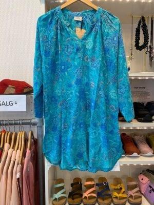 Vintage sarisilk Tunic turquoise M/L