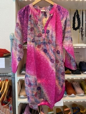 Vintage sarisilk Tunic Pink S/M
