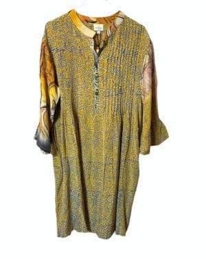 Vintage sarisilk City dress Curry M/L