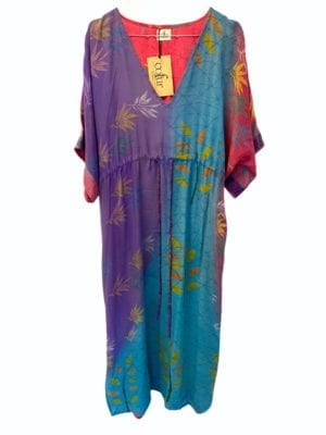Vintage sarisilk Pernille dress Multi Onesize