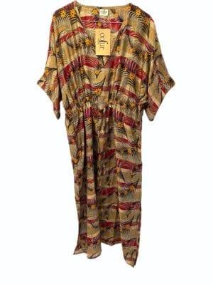 Vintage sarisilk Pernille dress jungle Onesize
