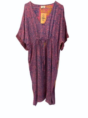 Vintage sarisilk Pernille dress purple Onesize