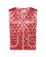 Molly Short Velour Quilt Vest