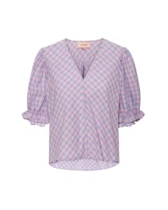 Esther Shirt Blouse Lavender checked