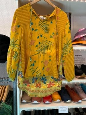 Jaipur shirt sarisilk S/M yellow