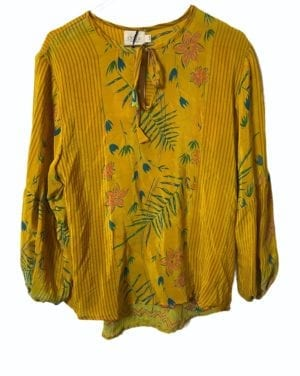 Jaipur shirt sarisilk S/M yellow