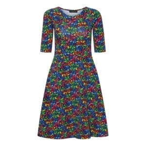 Betty Dress Rainbow Flowers