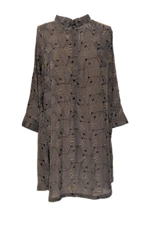 Filipa Tunic dress silk Gold