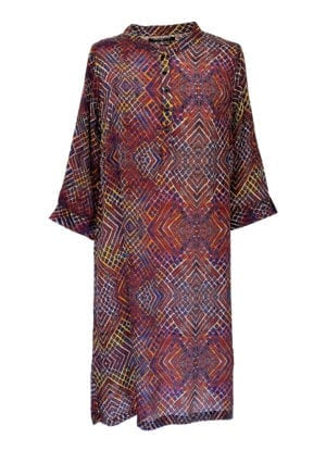 Jennifer dress silk Burnt Grid