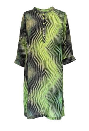Jennifer dress silk Green Tribal