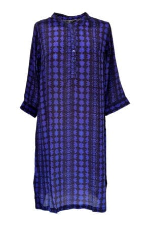 Jennifer dress silk Purple Tie dye