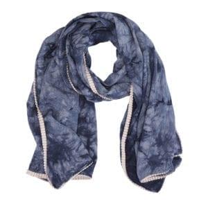 Tørklæde Dip dye blue/cream