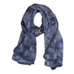 Tørklæde Dip dye blue/blue