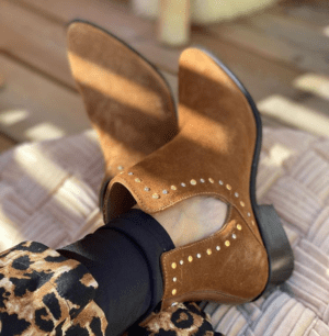 Over the rainbow boots cognac