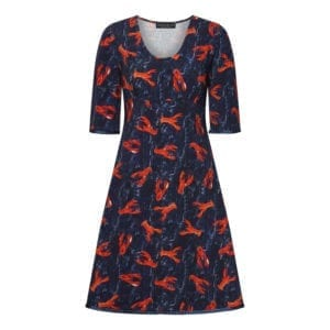 Stella Dress Lobster Love Navy