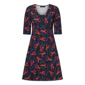 Stella Dress Lobster Love Navy