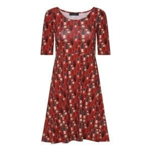 Betty Dress retro mushrom/ Red