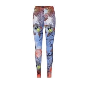 Wanda Yoga Leggings fish art print