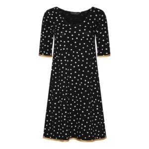 Alice dress dots black vanilla satin