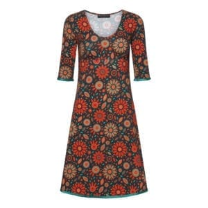 Stella Dress Orange pretty flowers