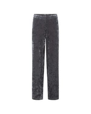 Maddie Velour trousers Black dots