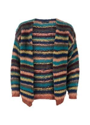 Tanita knit cardigan multistripe