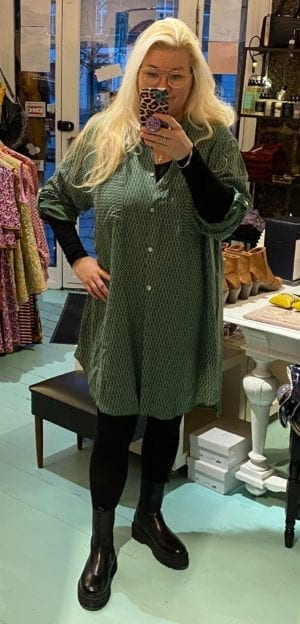 Tina Shirt dress green, onesize